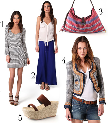exclusive products from shopbop, pre-spring